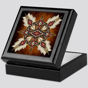 Native American Style Mandala 28 Keepsake Box